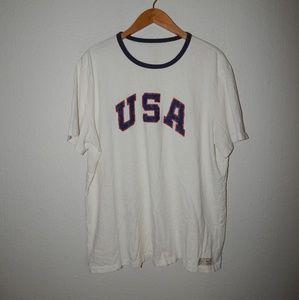 VTG Polo Ralph Lauren USA Spell Out t-shirt
